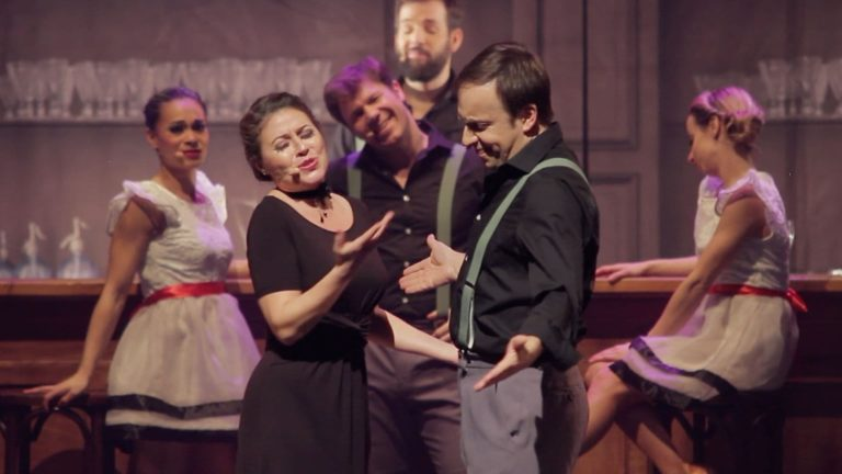 Piaf 100 Years of Love Musical Show Josephine and Horace At a Table