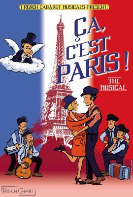 Poster advert ca c'est paris by French Cabaret 2021 web